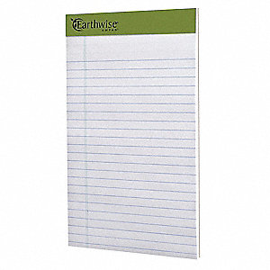 Writing Pad,5x8,Wht,Recycled,PK12