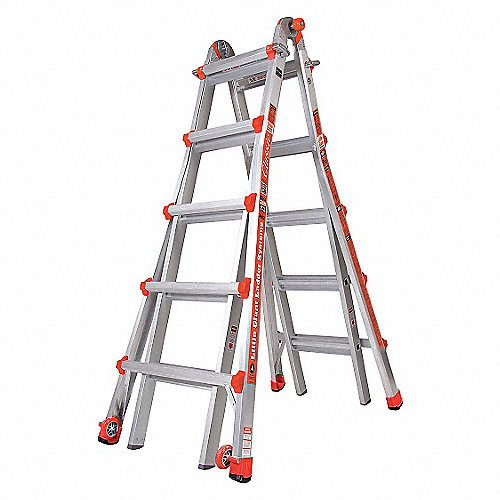 Little giant escalera multiusos al 22 pies cap 300lb for Escalera multiusos