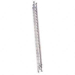 Extension Ladder, Aluminum, I ANSI Type, 20 ft. Ladder Height