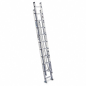 Extension Ladder, Aluminum, IA ANSI Type, 10 ft. Ladder Height