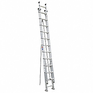 Extension Ladder, Aluminum, IA ANSI Type, 12 ft. Ladder Height