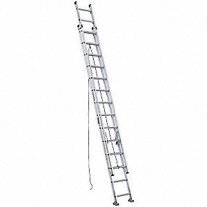 Werner 28 Ft Aluminum Extension Ladder 300 Lb Load