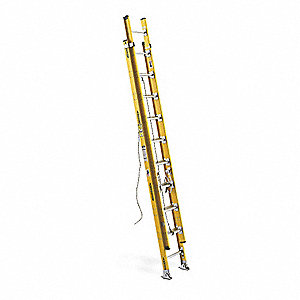 Extension Ladder, Fiberglass, IAA ANSI Type, 20 ft. Industry Ladder Size