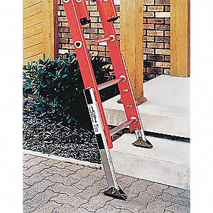 Ladder Leveler, Aluminum, Adjustable Up To Up to 8-1/2""