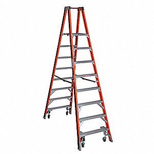 Werner Fiberglass Twin Platform Stepladder 10 Ft Ladder
