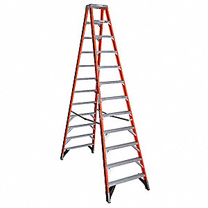 12 ft. 375 lb. Load Capacity Fiberglass Twin Stepladder