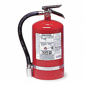 Halotron Fire Extinguisher with 11 lb. Capacity and 11 sec. Discharge Time