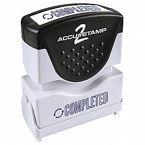 Microban Plastic Message Stamp, Blue Ink Color