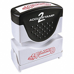 Microban Plastic Message Stamp, Red Ink Color