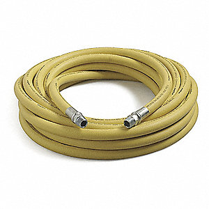 50 ft. Black Nitrile Mine Hose, Max. Pressure: 1000 psi, Yellow