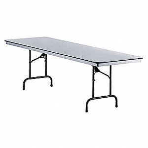 "30""H x 72""W x 30""D Rectangle Folding Table, Gray"