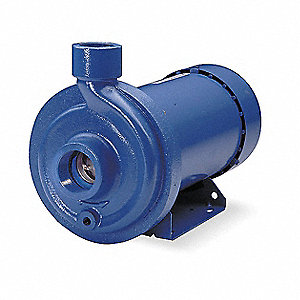 2 HP Centrifugal Pump, 3 Phase, 208-230/460 Voltage, Cast Iron Housing Material
