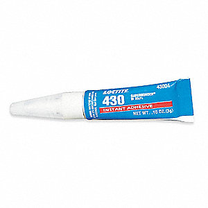 Clear 3g Instant Adhesive, Tube Container Type, 30 sec. Begins to Harden