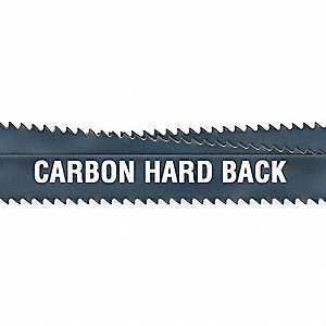 "9 ft. 6"" Carbon Steel Hard Back Band Saw Blade, 3/4"" Width"