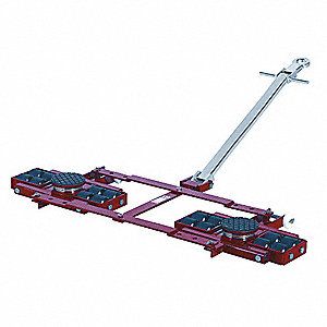 Tandem Machine Dolly, 26,400 lb., Steel, Number of Rollers 8