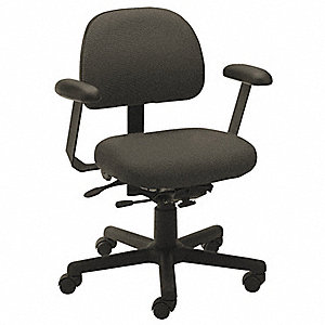"Black Polyester Desk Chair, 36"" Overall Height"