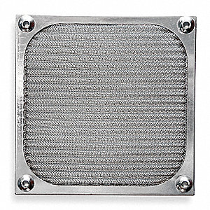 Aluminum Fan Filter Guard Assembly, 1 EA,For Fan Size (In.) 4-11/16