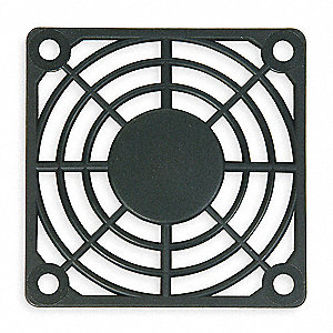 Plastic Fan Guard, 1 EA,For Fan Size (In.) 3-1/8