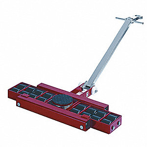 Machine Dolly, 26,400 lb., Steel, Number of Rollers 16