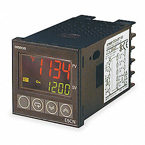 Temperature Controller, 1/16 DIN Size, 100 to 240VAC Input Voltage, Switch Function: SPST-NO