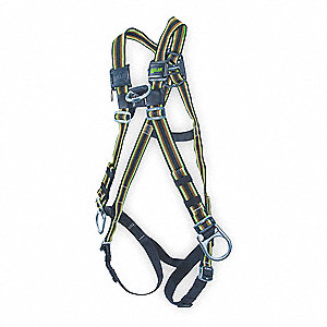 Full Body Harness,Universal,400 lb,Green