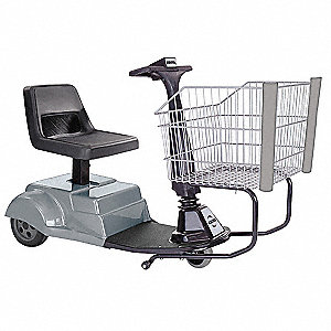 Smart Shopper Handicap Cart, Green, Rear Wheel Drive, 625 lb. Total Capacity
