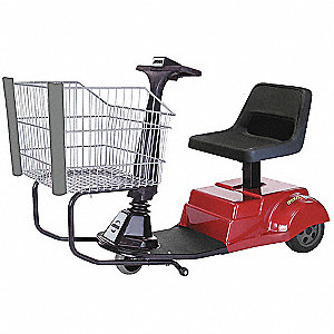 "56""L x 24""W x 33""H Red Smart Shopper Handicap Cart, 625 lb. Total Capacity"