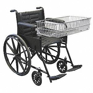"47""L x 26-3/4""W x 38""H Chrome Wheel Chair Shopping Cart, 315 lb. Total Capacity"