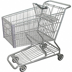Wire Shopping Cart,40-3/4 In. L