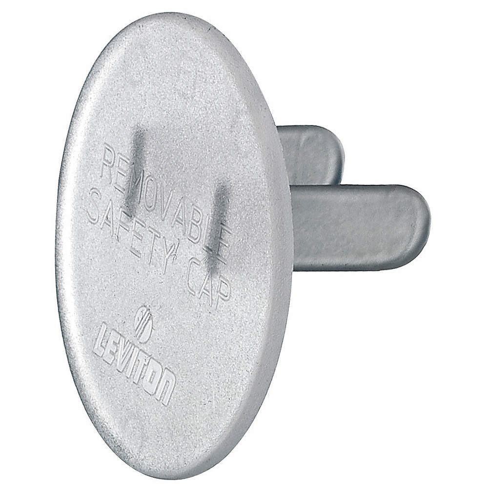 LEVITON Outlet Safety Cap, Clear, For Use With 5-15R and 5-20R ...
