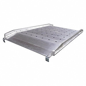 "7 ft. x 26"" Non-Skid Walk Ramp&#x3b; Load Capacity: 1800 lb., Service Height Range: 6 to 27"""