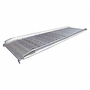 "12 ft. x 38"" Non-Skid Walk Ramp; Load Capacity: 1400 lb., Service Height Range: 6 to 48"""