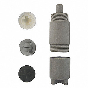 Chlorinated Polyvinyl Chloride and Carbon Drum Pump Repair Kit, Includes Pump Coupling, Pump housing