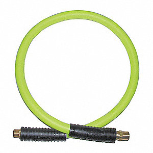 72 In. Coupled Assembly Snubber Hose, Yellow