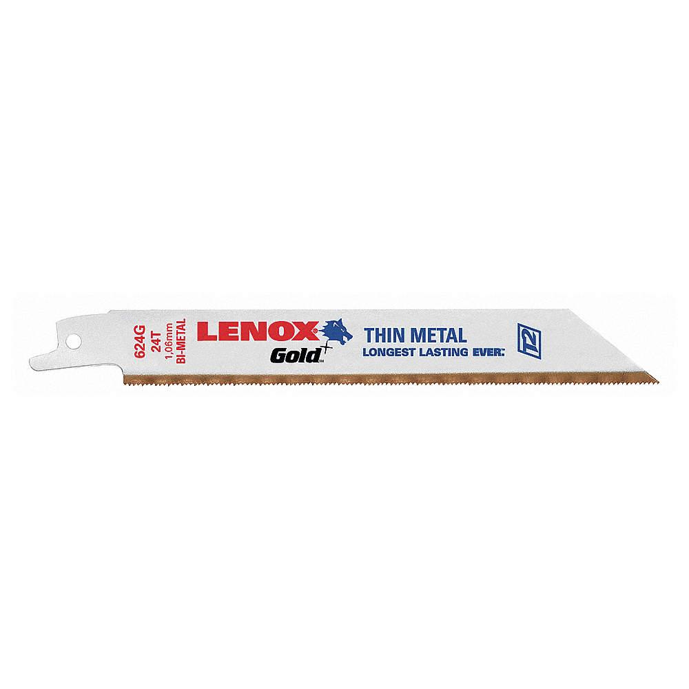Bi-Metal  Reciprocating Saw Blade  24 TPI 1 pk Lenox  6 in