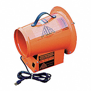Axial Confined Space Fan, 1/3 HP, 115VAC Voltage