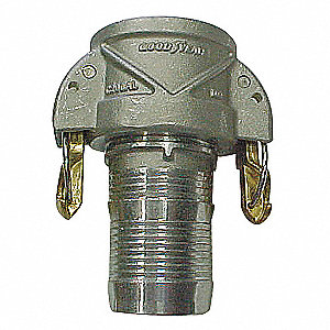Aluminum Coupler with Locking Arms, Coupling Type C, Female Coupler x Hose Barb Connection Type
