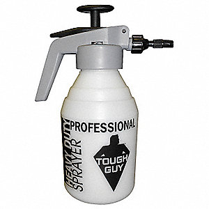 Gray/Clear Plastic, Metal Compressed Air Sprayer with Trigger, 2 qt., 1 EA