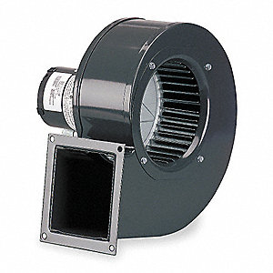 Rectangular OEM Blower With Flange, Voltage 115, 1570 RPM, Wheel Dia. 6-1/4""