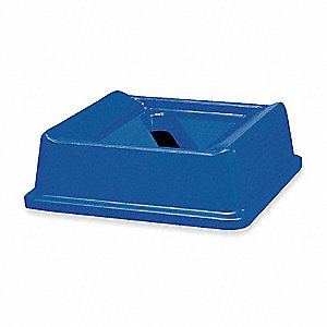 Blue Paper Slot Recycling Top