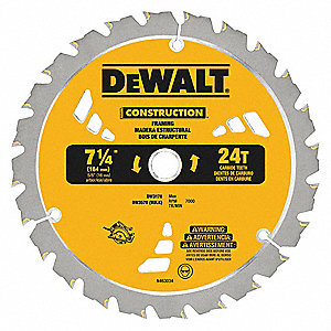 Dewalt crclr saw bldcrbde7 14 in24 teeth 4yk86dw3178 grainger crclr saw bldcrbde7 14 in24 teeth keyboard keysfo Images