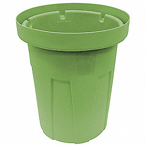 20 gal. Green, Polyethylene Food-Grade Waste Container