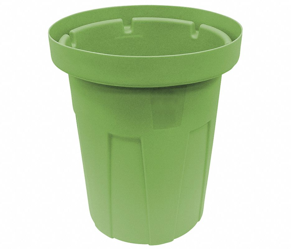 55 gal. Green, Polyethylene Food-Grade Waste Container