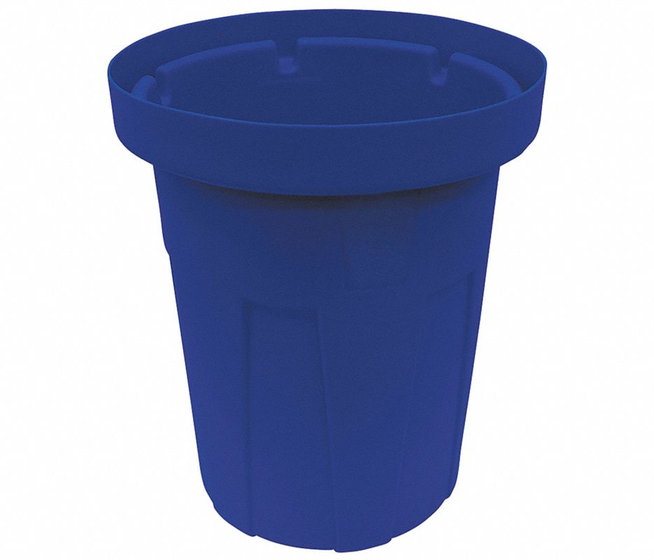 55 gal. Blue, Polyethylene Food-Grade Waste Container