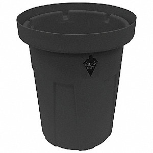 Food-Grade Waste Container,25 gal.,Blk