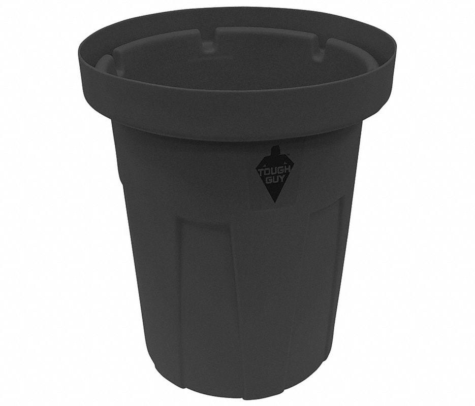 55 gal. Black, Polyethylene Food-Grade Waste Container