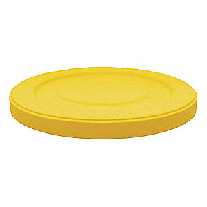 Round Flat Top Trash Can Top, Yellow