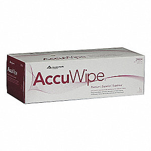 "AccuWipe® Virgin Fiber Delicate Task Wipes, 290 Ct. 8-1/4"" x 11-1/4"" Sheets, White"