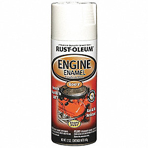 Engine Enamel,Universal Wht,12 oz,Spray