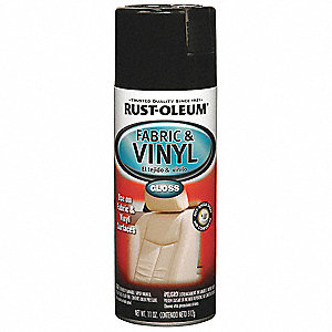 Fabric and Vinyl Paint in Gloss Black for Fabric, Vinyl, 11 oz.